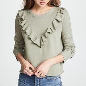 Free People • Ooh La Ruffle Pullover Sweatshirt